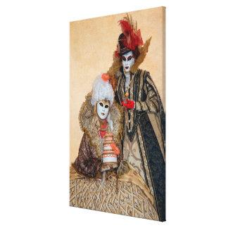 Couple in Carnival Costume, Venice Canvas Print