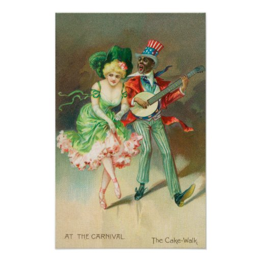 Couple in Costume Doing the Cake-Walk Posters