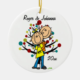 Couple in Love 1st Christmas Personalized Ornament
