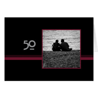 Couple in Love 50th Wedding  Anniversary Card