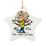 Couple in Love and Cat Personalized Ornament