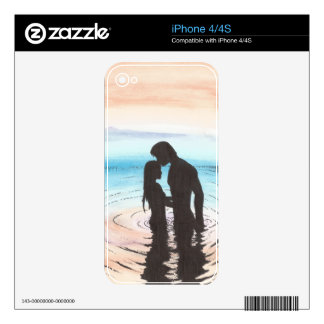 Couple in Love at Sunset Decal For iPhone 4
