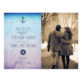 Couple in love at the park winter/nautic postcard