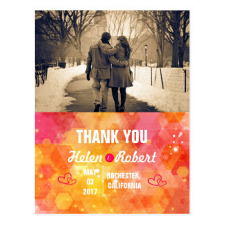 Couple in love at the park winter postcard