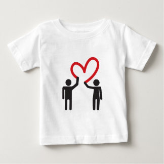 couple in love drawing heart together baby T-Shirt