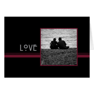 Couple in Love Happy Wedding  Anniversary Card