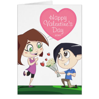 Couple in Love - Pink Valentine's Day Photo Card