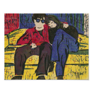 Couple in Love Print 14x11 Poster