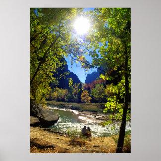 Couple in Love - Virgin River, Utah Posters