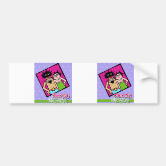 Couple in Love with violet background Bumper Sticker