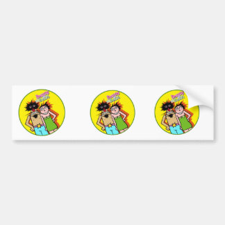 Couple in Love with yellow background Bumper Sticker