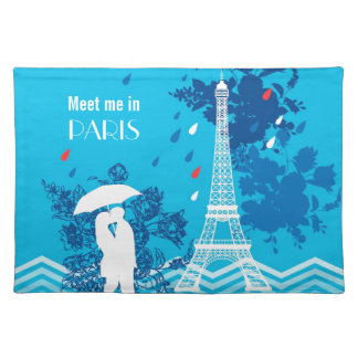 Couple in Paris with Eiffle Tower Placemat