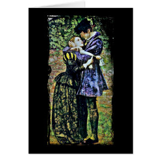 Couple in Romantic Embrace Greeting Card
