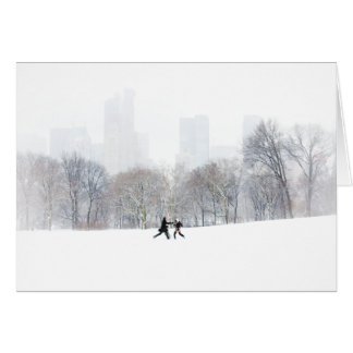 Couple in Sheep Meadow, Central Park Greeting Card
