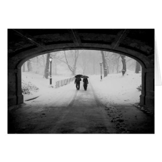 Couple in Snowstorm, Central Park Card