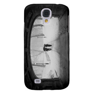 Couple in Snowstorm, Central Park Samsung Galaxy S4 Covers