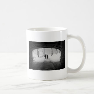 Couple in Snowstorm, Central Park Classic White Coffee Mug