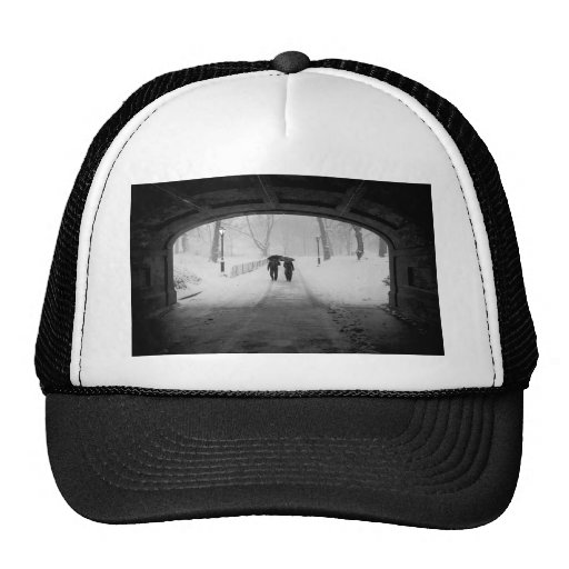 Couple in Snowstorm, Central Park Trucker Hat
