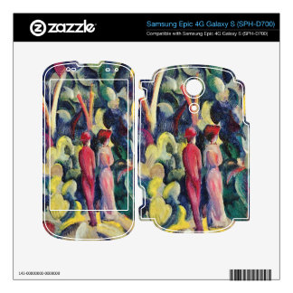 Couple in the forest by August Macke Samsung Epic Decals