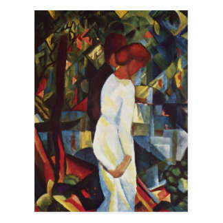 Couple in the Woods by August Macke Postcard