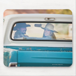 Couple in truck mousepads