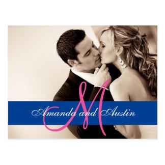 Couple Kiss Wedding Sepia/Wedding Invitation Postcard