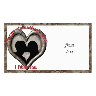 Couple Kissing - I miss you on Valentine s Day Business Cards