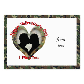 Couple Kissing - I missing you on Valentine s Day Business Card