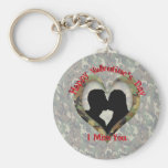 Couple Kissing  - I missing you on Valentine's Day Key Chains
