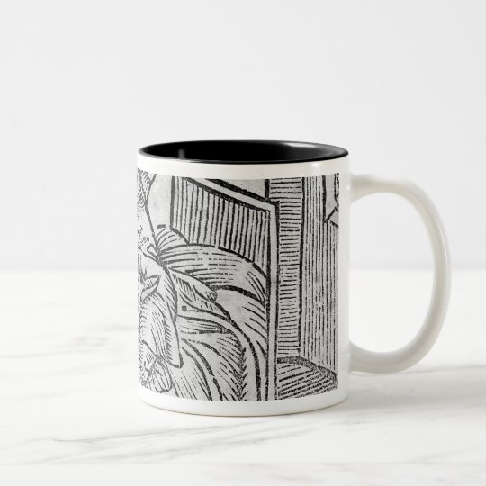 Couple Kissing, illustration 'Roxburghe Ballads' Two-Tone Coffee Mug