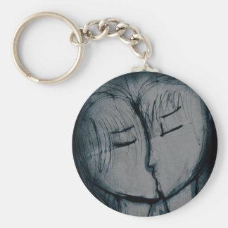 couple kissing, romantic keychain