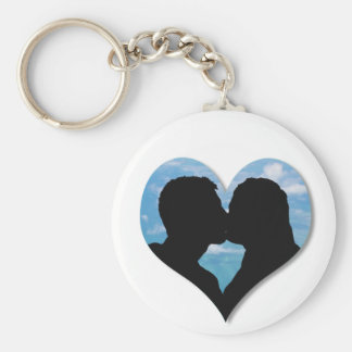 Couple Kissing Silhouette keychain Keychains