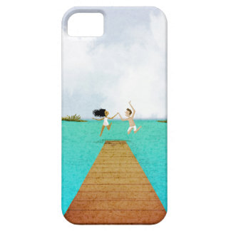 "Couple leaping into water ""Plunge"" iPhone 5 Cover"