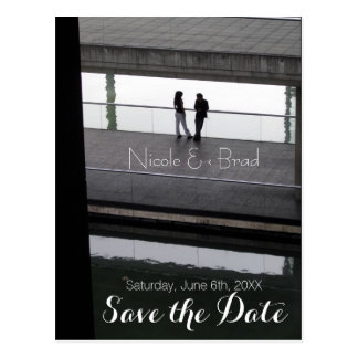 Couple Modern Wedding Save the Date 1 Postcard