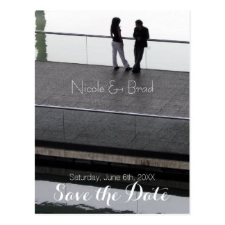 Couple Modern Wedding Save the Date 2 Postcard