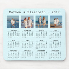 Couple Names And Photos | 2017 Photo Calendar Mouse Pad at Zazzle