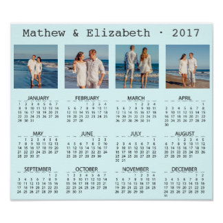 Couple Names and Photos | 2017 Photo Calendar Poster