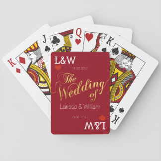couple names, love celebration, wedding red playing cards