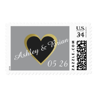 couple names, save-the-date wedding love postage