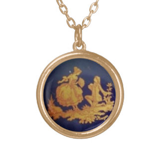 Couple Round Pendant Necklace
