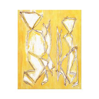 Couple New Home Decor Yellow - Couple Art Abstract Canvas Print