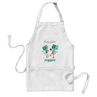 Couple of Blue Reggae Cats Aprons