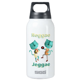 Couple of Blue Reggae Cats Insulated Water Bottle