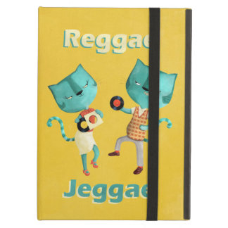 Couple of Blue Reggae Cats iPad Air Covers