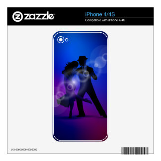 Couple of Dancing Tango Design Decals For The iPhone 4S