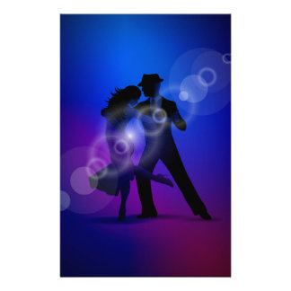 Couple of Dancing Tango Design Stationery