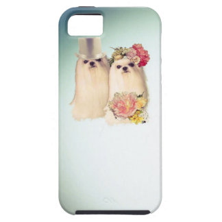 Couple of dogs dressed in wedding costume iPhone SE/5/5s case