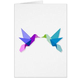 Couple of hummingbirds greeting card