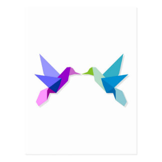 Couple of hummingbirds postcard