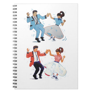 Couple of Jive Dancers Spiral Notebook